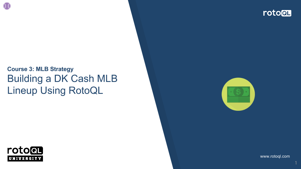 -Building a Cash DK MLB Lineup Using RotoQL