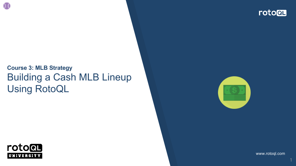 Building a Cash MLB Lineup Using RotoQL